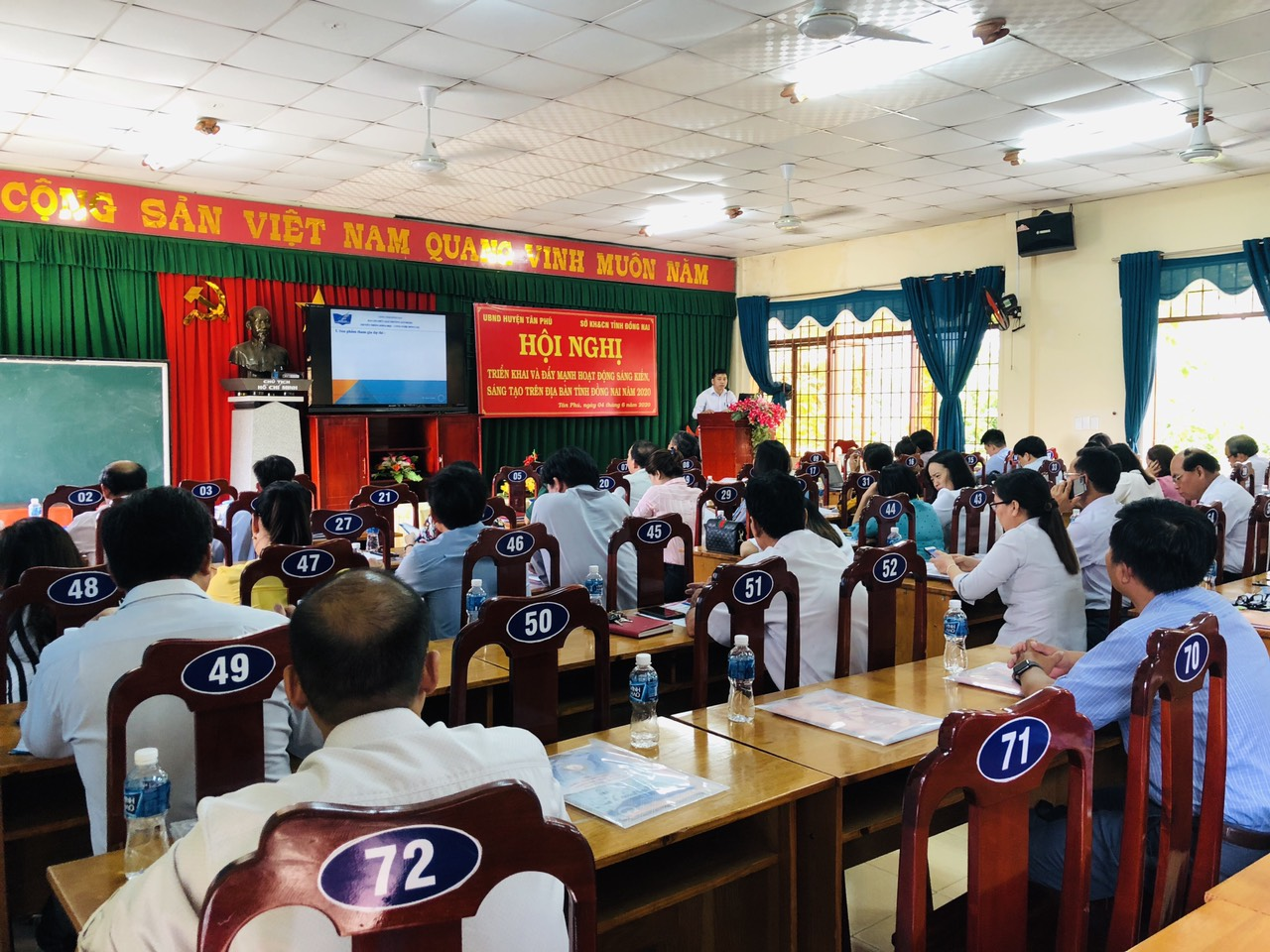 The conference to deploy and promote the creative activities in Dong Nai province in 2020 held in Tan Phu district