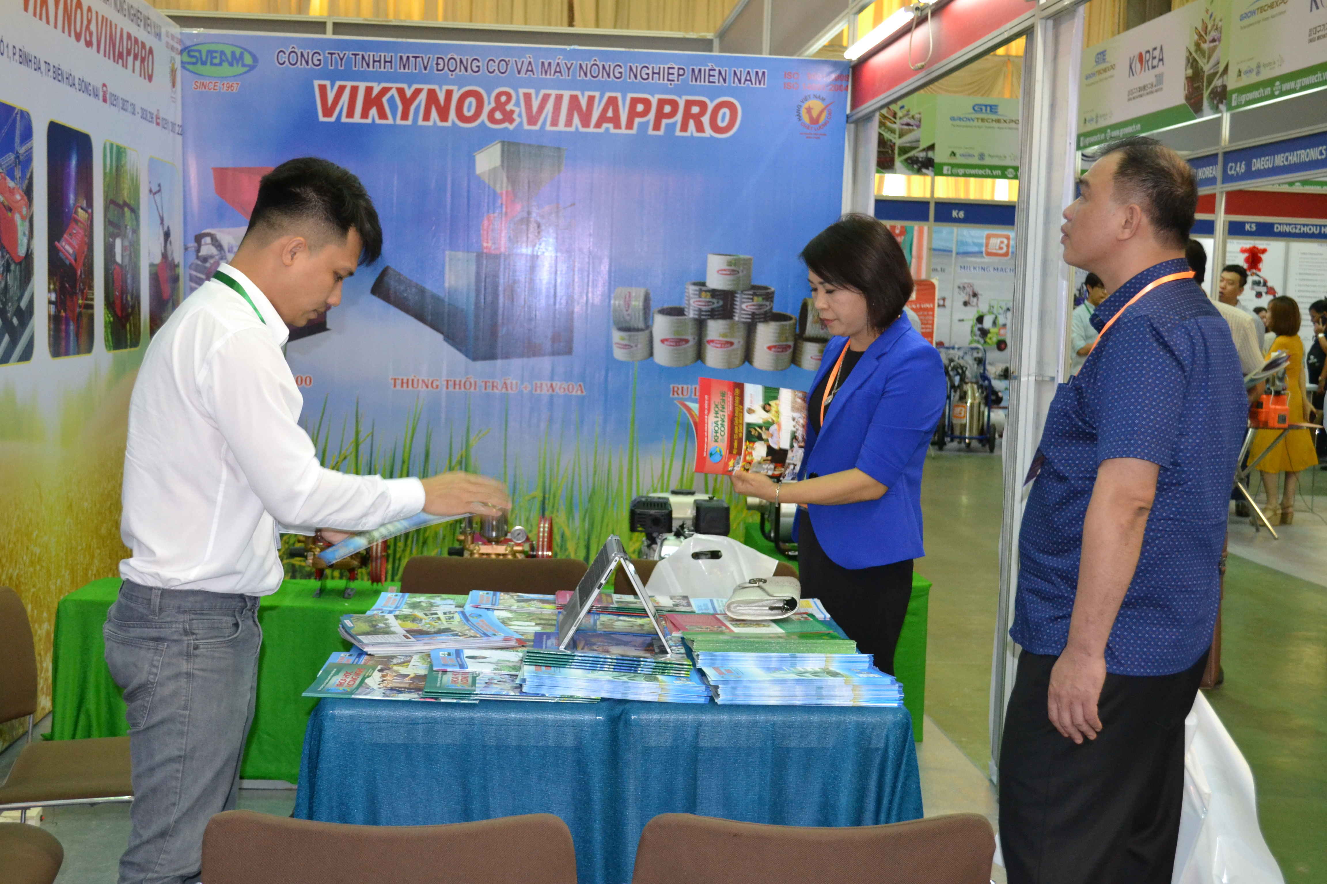 The International Exhibition on Machineries and Technologies of Agriculture, Forestry, and Fishery (Vietnam Growtech 2018) opened