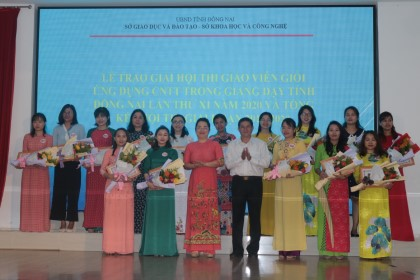 """A ceremony for reviewing and rewarding the winners of the """"Teachers Good at Applying IT to Teaching Activities in Dong Nai Province in 2020"""" Contest held"""