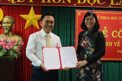 Appointment decisions handed over to the officials of Dong Nai Department of Science and Technology
