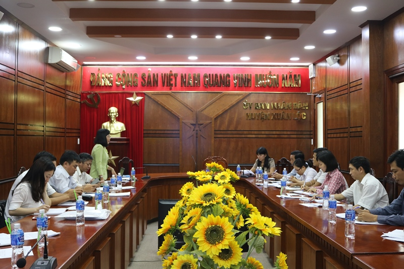 Dong Nai Department of Science and Technology (DOST) had a working session with Xuan Loc district to discuss the management of science and technology activities