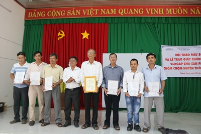 16.5 hectares of rambutans in Quang Trung commune certified to meet Viet GAP standards