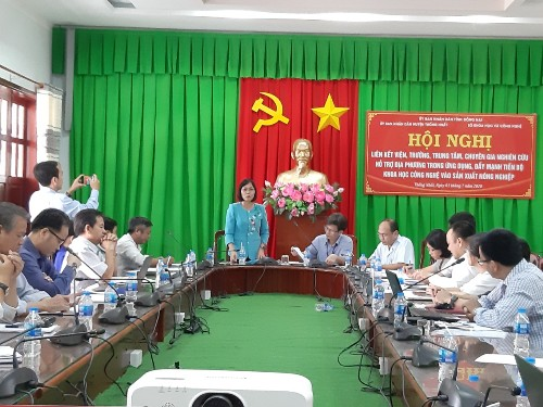 Thong Nhat district is assisted to promote its research and application in agriculture