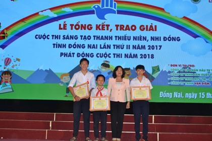 Tổng kết và trao giải cuộc thi Sáng tạo thanh thiếu niên, nhi đồng